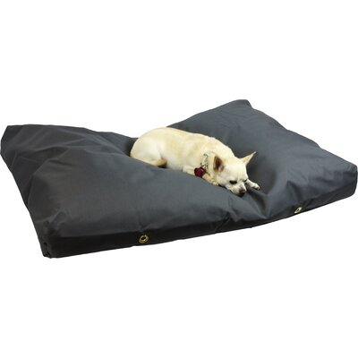 Snoozer Dog Pillow/Classic with Waterproof Covering? Size: Small (4 H x 44 W x 28 D), Color: Gunmetal