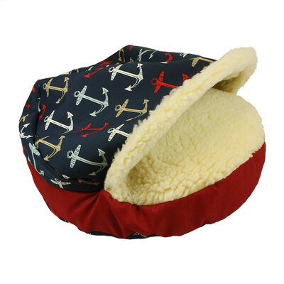Orthopedic Pool and Patio Cozy Cave Anchors Dog Bed Size: Small (25 L x 25 W)