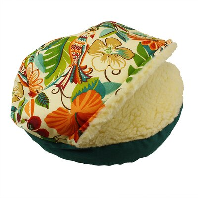 Pool and Patio Cozy Cave Jungle Dog Bed Size: Small (25 L x 25 W)