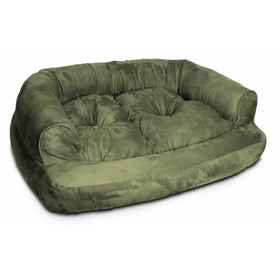 Overstuffed Luxury Dog Sofa Size: Extra Large (54 L x 36 W), Color: Olive