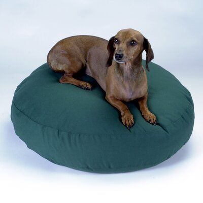 Round Dog Pillow Size: Large (42 L x 42 W), Color: Red