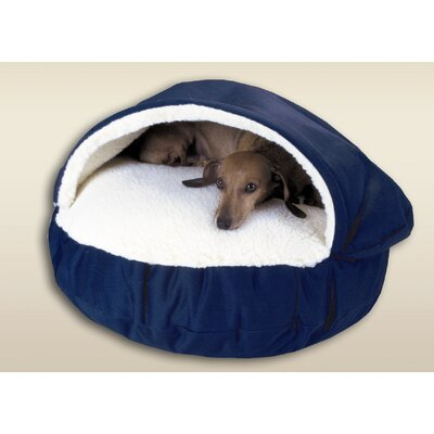 Cozy Cave Dog Hooded Size: Small (25 L x 25 W), Fabric: Royal Blue