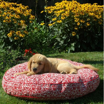 Snoozer Pool & Patio Round Outdoor Dog Bed - Fabric: Island Palm Floral, Size: Medium (35