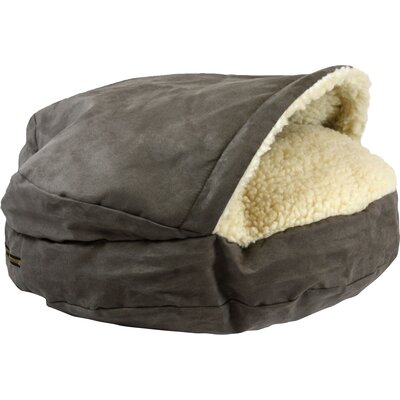 Cozy Cave Luxury Hooded Pet Bed Color: Dark Chocolate, Size: Large (35 W x 35 D)