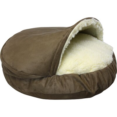 Cozy Cave Luxury Hooded Pet Bed Size: Small (25 W x 25 D), Color: Peat