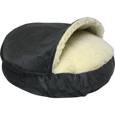 Cozy Cave Luxury Hooded Pet Bed Size: Small (25 W x 25 D), Color: Anthracite