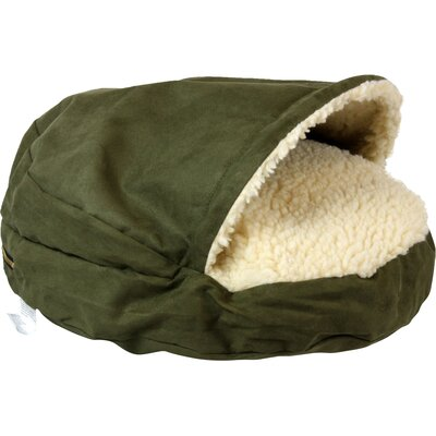 Cozy Cave Luxury Hooded Pet Bed Size: Large (35 W x 35 D), Color: Olive
