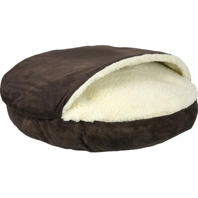 Cozy Cave Luxury Hooded Pet Bed Size: X-Large (45 W x 45 D), Color: Hot Fudge