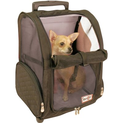 "Wheel Around Travel Pet Carrier Size: Medium (20"" H x 14"" W x 11"" D), Color: Red 86201"