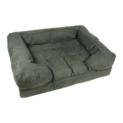 Forgiveness Dog Sofa Size: Medium (30 L x 20 W), Color: Black / Herringbone