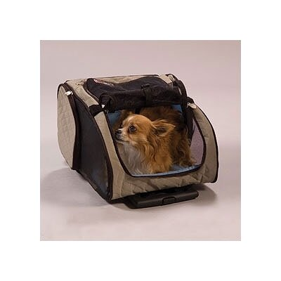 "Snoozer Wheel Around Travel Pet Carrier - Size: Small (17.5"" H x 8"" W x 12"" L), Color: Khaki at Sears.com"