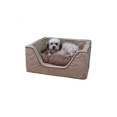 Luxury Square Nest Dog Bed Color: Olive/Coffee, Size: X-Large (31 L x 27 W)