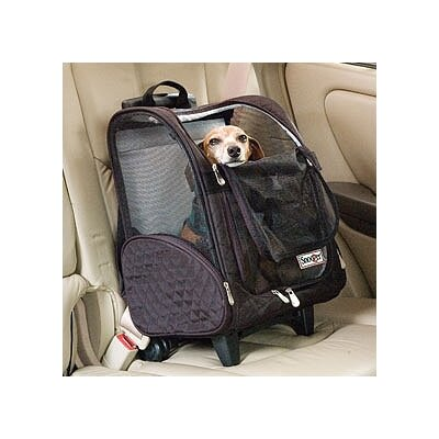 Wheel Around Travel Pet Carrier Size: Large (23 H x 15.5 W x 12.25 D), Color: Black