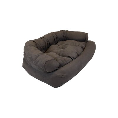 Overstuffed Luxury Dog Sofa Size: Large (40 L x 30 W), Color: Dark Chocolate