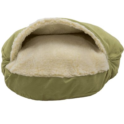 Orthopedic Luxury Cozy Cave Hooded Dog Bed Size: Large (35 L x 35 W), Color: Lime