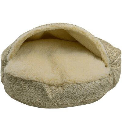 Premium Cozy Cave Hooded Dog Bed Size: Small (25 L x 25 W), Color: Palmer Citron