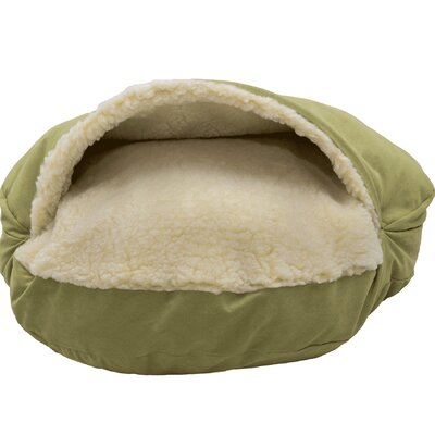 Luxury Cozy Cave Hooded/Dome Dog Bed Size: Extra Large (45 L x 45 W), Color: Lime