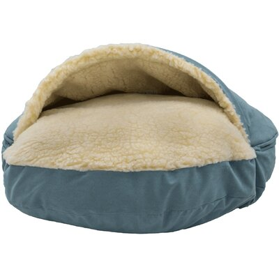Orthopedic Luxury Cozy Cave Hooded Dog Bed Size: Large (35 L x 35 W), Color: Aqua