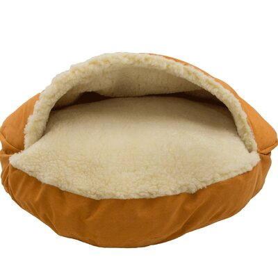 Luxury Cozy Cave Hooded/Dome Dog Bed Size: Small (25 L x 25 W), Color: Orangeade