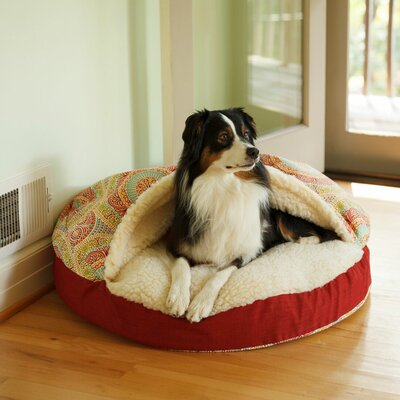 Wag Indoor/Outdoor Cozy Cave Hooded Dog Bed Size: Small (25 L x 25 W)