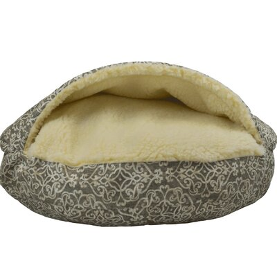 Wag Indoor/Outdoor Cozy Cave Hooded Dog Bed Color: Gondola Gray, Size: Extra Large (45 L x 45 W)