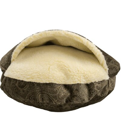 Premium Cozy Cave Hooded Dog Bed Color: Laurel Mocha, Size: Small (25 L x 25 W)