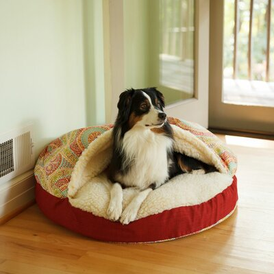 Wag Orthopedic Indoor/Outdoor Cozy Cave Hooded Dog Bed Size: Large (35 L x 35 W)