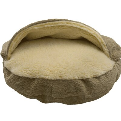 Premium Cozy Cave Hooded Dog Bed Size: Extra Large (45 L x 45 W)