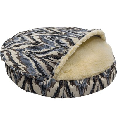 Snow Dog Orthopedic Premium Cozy Cave Hooded Dog Bed with Sherpa Interior Size: Large (35 L x 35 W), Color: Tempest Indigo