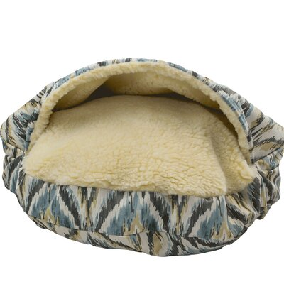 Snow Dog Orthopedic Premium Cozy Cave Hooded Dog Bed with Sherpa Interior Size: Large (35 L x 35 W), Color: Tempest Spring