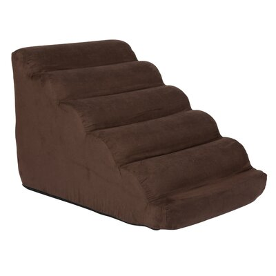Scalloped 17.5 Pet Ramp Color: Hot Fudge