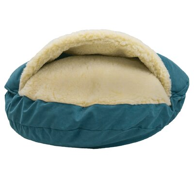 Luxury Cozy Cave Hooded/Dome Dog Bed Size: Large (35 L x 35 W), Color: Marine