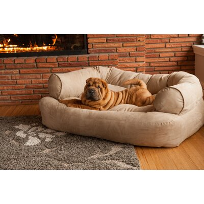 Overstuffed Luxury Dog Sofa Color: Buckskin, Size: X-Large