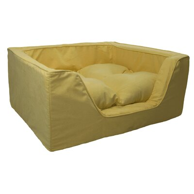 Luxury Solids Micro Suede Bolster Size: Medium (23 L x 19 W), Color: Lemon