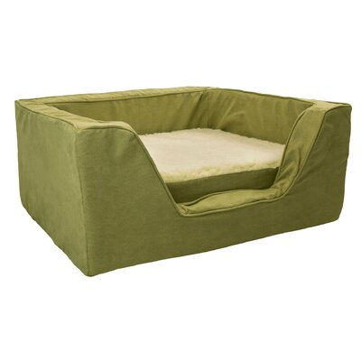 Luxury Solids Micro Suede Bolster with Memory Foam Size: Large (27 L x 23 W), Color: Lime