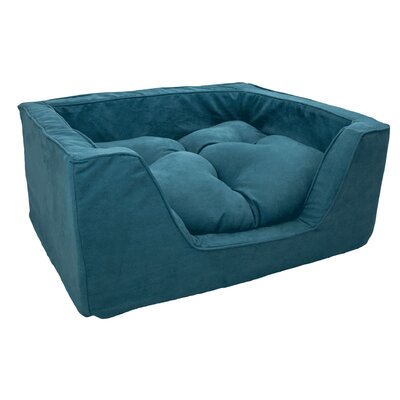 Luxury Solids Micro Suede Bolster Size: Medium (23 L x 19 W), Color: Marine