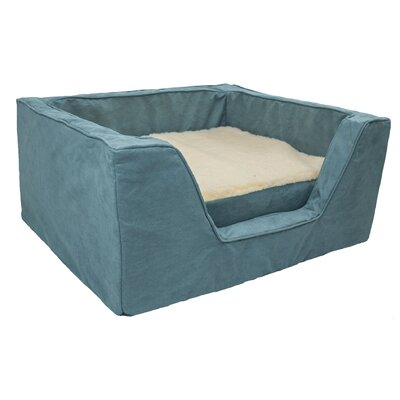 Luxury Solids Micro Suede Bolster with Memory Foam Size: Extra Large (31.5 L x 27.5 W), Color: Aqua