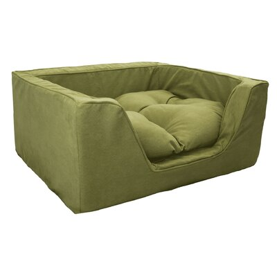 Luxury Solids Micro Suede Bolster Size: Medium (23 L x 19 W), Color: Lime