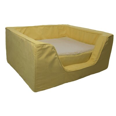Luxury Solids Micro Suede Bolster with Memory Foam Size: Medium (23 L x 19 W), Color: Lemon