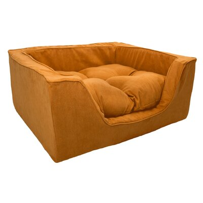 Luxury Solids Micro Suede Bolster Size: Medium (23 L x 19 W), Color: Orangeade