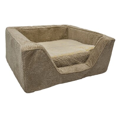 Show Dog Premium Micro Suede Bolster with Memory Foam Size: Medium (23 L x 19 W)