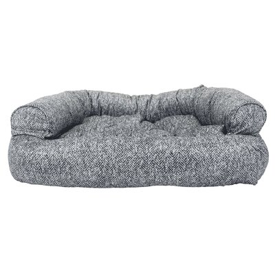 Show Dog Premium Overstuffed Bolster Dog Bed Size: Large (40 L x 30 W), Color: Palmer Indigo