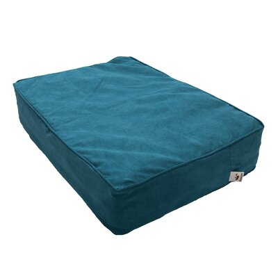 Luxury Solids Outlast Heating and Cooling Dog Bed Size: Small (22 L x 15 W), Color: Marine