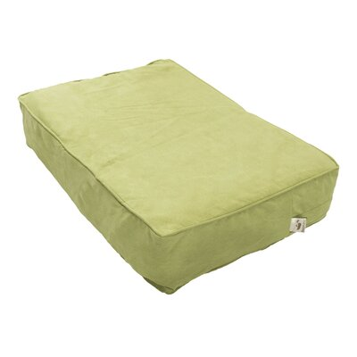 Luxury Solids Outlast Heating and Cooling Dog Bed Size: X-Large (42 L x 26 W), Color: Lime