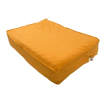 Luxury Solids Outlast Heating and Cooling Dog Bed Size: X-Large (42 L x 26 W), Color: Orangeade