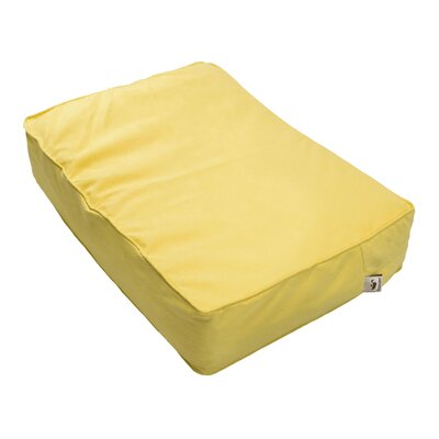 Luxury Solids Outlast Heating and Cooling Dog Bed Color: Lemon, Size: Medium (26 L x 18 W)