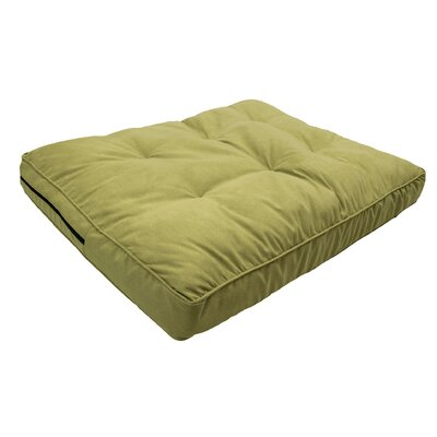 Luxury Solids Orthopedic Pillow Color: Lime, Size: Large (44 L x 35 W)