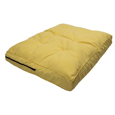 Luxury Solids Orthopedic Pillow Color: Lemon, Size: Small (30 L x 20 W)
