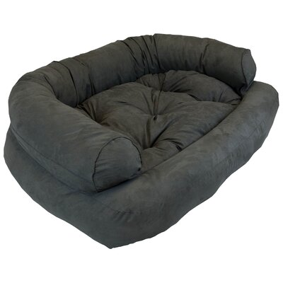 Overstuffed Luxury Dog Sofa Color: Anthracite, Size: Large