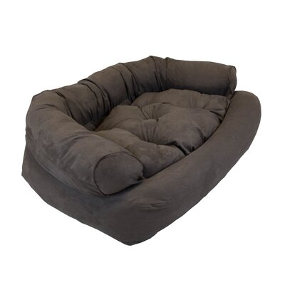 Overstuffed Luxury Dog Sofa Size: Extra Large (54 L x 36 W), Color: Dark Chocolate
